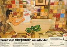 Publicité 1978  (Double page) Salle de bains VILLEROY & BOCH carrelage sanitaire