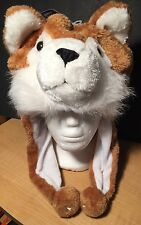 Cozy Zone Animal Hat Winter Hat Warm Plush Wolf Cap Beanie NWT