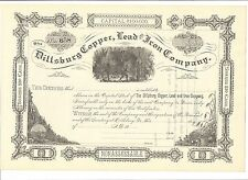 DILLSBURG COPPER, LEAD AND IRON COMPANY.....1800'S UNISSUED STOCK CERTIFICATE