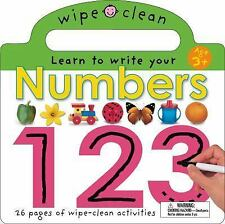 Wipe Clean Learning Bks.: Numbers 1 2 3 by Roger Priddy (2004, Hardcover,...