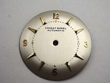 27.76mm Gold Markers Automatic Ernest Borel Vintage Pearl Mens Watch Dial NOS
