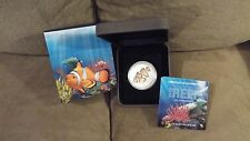 RARE 2010 NIB MINT/10000 THE REEF CLOWN FISH 1/2 OZ SILVER AUSTRALIA PROOF