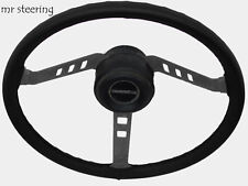 FOR STANDARD VANGUARD PHASE lll 55-59 QUALITY BLACK LEATHER STEERING WHEEL COVER