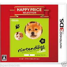 nintendogs + cats Shiba & NEW FRIEND HAPPY PRICE 3DS NINTENDO JAPANESE  JAPANZON