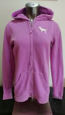 "Victoria's Secret Pink women's soft purple full zip hoodie ""LOVE PINK"" size M"