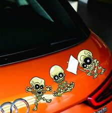 "Car Truck Vinyl Decals Sticker Tailgate Stickers ""Chinese Kuang Fu Skull"""