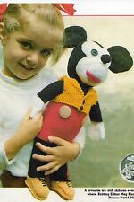 VINTAGE KNITTING PATTERN - MICKEY MOUSE SOFT TOY - 41cm - DK - LAMINATED