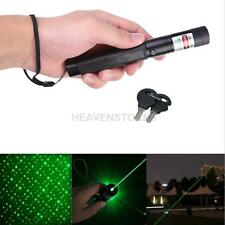 Powerful Light Green Laser Pointer Pen Keychain Safety Key With Star Cap Black