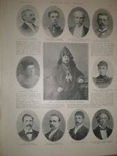 Printed photo Malachia Ormanian Armenia patriarch of Constantinople 1896 Rf S
