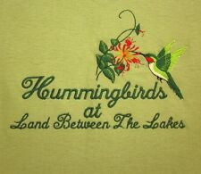 RUBY-THROATED HUMMINGBIRDS small T shirt embroidery Land Between the Lakes tee