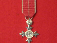 Miniature Member of the British Empire MBE Medal with Military ribbon BRAND NEW