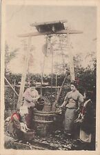 B81612 getting water from well geisha types  japan front/back image