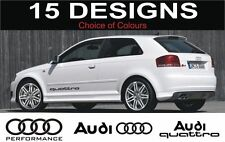 a3 s3 a4 s4 a6 s6 a2 audi quattro decals stickers 2 off logos