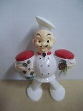 Vintage MID CENTURY  Plastic Chef  Salt & Pepper Shakers TR