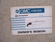 1966 OMC Stern Drive Boat Motor Engine 80 Horsepower HP Owner Manual Operation M
