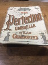 Vintage Victorian Original Sign Advertising THE PERFECTION UMBRELLA WEAR 15""