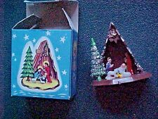 Vintage Miniature Nativity Christmas Ornament    Hong Kong with Box