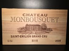 1 French Wood Wine Panel Box Case Crate Chateau Monbousquet *4