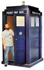 3D LIFESIZE TARDIS (DOCTOR WHO) LIFE SIZE STAND UP FIGURE TV SERIES ENGLAND TOM!