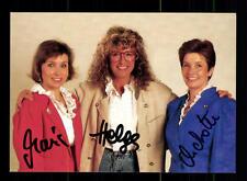 Helga Reichel und die Auer Dirndl Autogrammkarte Original Signiert ## BC 77739
