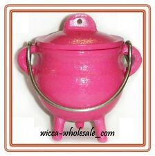 "3.5 "" Cast Iron PINK Cauldron Incense Burner POT BELLY ~ FREE PRIORITY SHIPPING"
