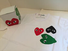 100% AUTHENTIC NEW COMME des GARCONS CDG PLAY PARFUMS TEE MEN'S BI-T002 SIZE M