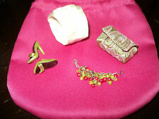 FASHION ROYALTY ACCESSORIES JASON WU*BAG WITH STRASS-SHOES-PANTIES plus NECKLACE