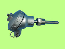 """RTD PT100 Temperature Sensors 2"""" Probe with Terminal Head and 1/2""""NPT Threads"""