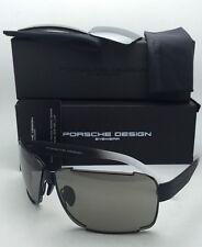 New PORSCHE DESIGN Titanium Sunglasses P'8580 A 70-10 Black Frame  w/2 Lens Sets