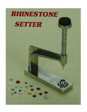 RHINESTONE SETTER HEAVY DUTY STUD MACHINE RHINESTONE OR JEWEL TO FABRIC NIB