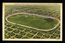 Car Auto Racing Vintage postcard Indy 500 Indianapolis, IN linen 1931 aerial