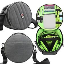 Large Carrying Shockproof Organize Case Storage Bag for Headphone Earphone Strap