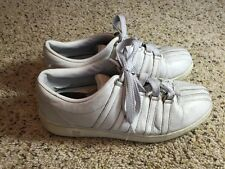 Kswiss Womens Low White Leather Sneakers/ Athletic Shoes Size 7.5 Ked