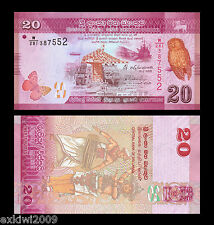 Sri Lanka 20 Rupees 2015 P-New Mint UNC Uncirculated Banknotes New Issue