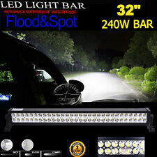 """32inch 240W CREE LED WORK LIGHT BAR FLOOD SPOT Combo OFFROAD TRUCK LAMP 4WD 30"""""""