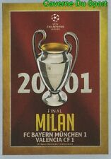 593  FINAL 2000-01 FC.BAYERN Vs VALENCIA.CF STICKER CHAMPIONS LEAGUE 2016 TOPPS