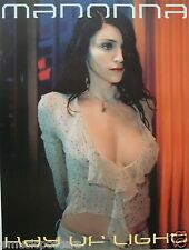 "MADONNA ""RAY OF LIGHT"" U.S. PROMO POSTER-Dark Hair, Wearing A Sexy, Low-Cut Top!"