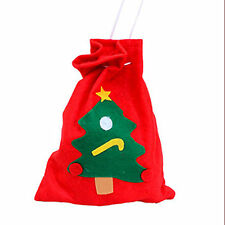 1 x Red Christmas Santa Claus Xmas Tree Snow Candy Container Backpack Bag Holder