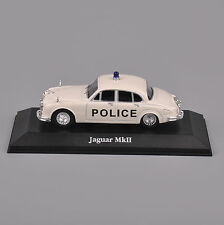 1/43 Scale Atlas Car Model White jaguar MKII Figure For Collection