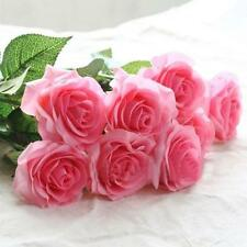 1PC Beautiful Real Touch Man-made Rose Flowers Wedding Home Design Decor Pink