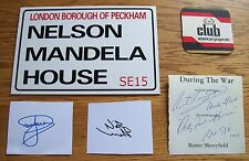 Only Fools & Horses Autographs & Screen Used Beer Mat AFTAL/UACC RD