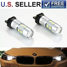 6000K White Error Free PW24W LED Bulbs For BMW F30 328i 335i DRL Daytime Lights