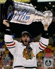 Brandon Saad Chicago Blackhawks Signed Autographed Raising Stanley Cup 16x20