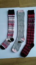 3pairs Ladies Luxury Shetland Wool Rich Socks  70%WOOL KNEE HIGH LONG SOCKS JKTR