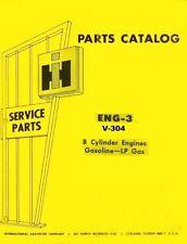 International 815 915 Combine V-304 V304 8 Cylinder Gas Engine Parts Manual IH