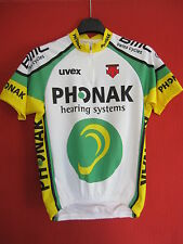 Maillot cycliste Phonak 2003 BMC Swiss Cycles UVEX cycling jersey - S