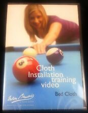 IWAN SIMONIS POOL TABLE CLOTH INSTALLATION TRAINING DVD VIDEO SET - BED & RAILS