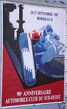 AFFICHE ANCIENNE D'APRES ROY AUTOMOBILE CLUB DU SUD OUEST 1987 BORDEAUX