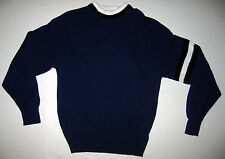 Vintage Aeropostale Compagnie Generale Blue White Black Mens Sweater Made in USA