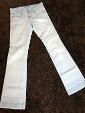 Drykorn for beautiful people Skinny Flared Jeans, sehr hell, hüftig, W27 / L32